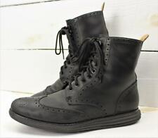 Cole Haan LunarGrand Waterproof Black Leather Chukka Brogue Wingtip Boots 9 M