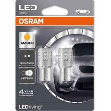 OSRAM LED PY21W 581 7457YE-02B BAU15s BAIONETTA Ambra Indicatore esterno Lampadina TWIN