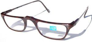 Vintage 90's Carbon Fiber Rectangle Half Frame Reading Glasses +1.25 (S.Brown)