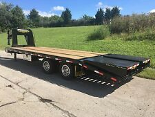 New Model!  LOOK!  20+5 Gator Gooseneck, Flat Bed, Equipment Trailer