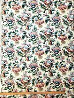 """Waverly Fabric """"Tidewater"""" Floral pattern on cream backdrop 56"""" x 78"""" 2 yards +"""
