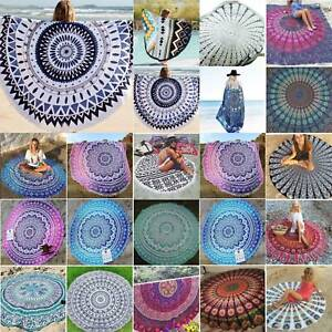 Indian Round Mandala Beach Throw Hippy Tapestry Yoga Mat Towel Bohemian Roundie