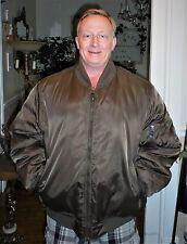 Jordan Craig Outerware Nylon MA-1 Bomber Flight Jacket XXL Military Inspired