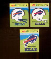 1981 Fleer Action BUFFALO BILLS Helmet & Logo Sticker Set plus with Variations