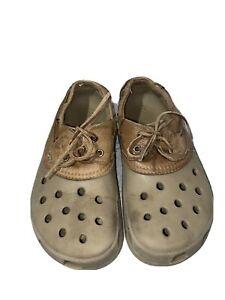 Crocs  Rubber Leather Shoes  M 10 W. 12