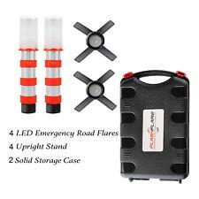 LED Emergency Roadside Flares  Warning Beacon Red- Magnetic Base + Upright Stand