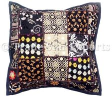 Indian Vintage Patchwork Pillow Case 16x16 Embroidery Square Throw Cushion Cover