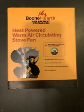 Boone Hearth Heat Powered Stove Fan Thermally Controlled Warm Air Circulator