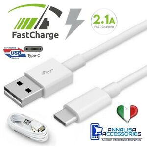CAVO CAVETTO USB TIPO TYPE C PER SAMSUNG XIAOMI HUAWEI DATI CARICA FAST CHARGER