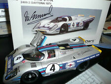 MARTINI PORSCHE 917K Daytona 24 hours 1971 AA 1:18 Autographed by Vic Elford