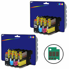 2 Sets of Compatible Printer Ink Cartridges for Brother DCP-J132W [LC123]