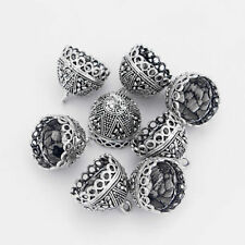 10pcs Antique Silver Tassel End Cap Caps Beads Stopper Jewelry Making Findings