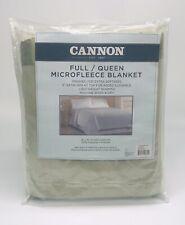 Cannon Full/Queen Microfleece Blanket - Sage 90x90 - Satin Trim - Sears NOS