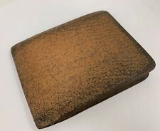 Vintage 1950's Era Well Loved Man's Brown Leather Coca Cola Wallet