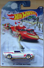 "Hot Wheels Walmart exclusive 2015 Holiday Hot Rods "" 67 MUSTANG "" 2/6  X-MAS"