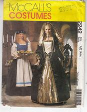 Renaissance Skirt Blouse Headpiece Overskirt Apron McCalls Sew Pattern 2242 4-8