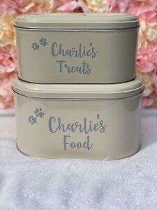 Personalised Dog Cat Pet Food / Treat Storage Tin
