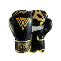 WYOX Boxing Gloves MMA Sparring Gear Punching Equipment Kid Adult 10 12 14 16 oz
