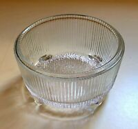 Vintage Federal Glass Candy Trinket Dish 2 in tall 3.5 wide Round Free Shipping
