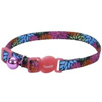 "COASTAL SAFE CAT WILD FLOWER SAFETY 8""-12"" BREAKAWAY KITTEN COLLAR.FREE SHIP USA"