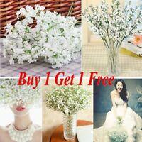 1 Head Romantic Baby Breath Gypsophila Silk Flower Party Wedding Home Décor