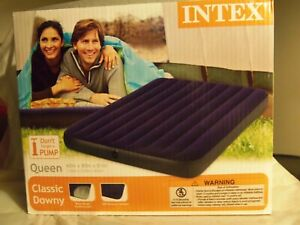 NEW - Intex Queen Size Classic Downy Air Bed Inflatable Mattress