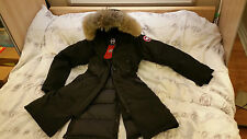 "BRAND NEW ""RED LABEL"" 100% LADIES BLACK CANADA GOOSE KENSINGTON XL PARKA JACKET"