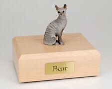 Cornish Rex Blue Cat Figurine Pet Cremation Urn Available 3 Diff Colors 4 Sizes