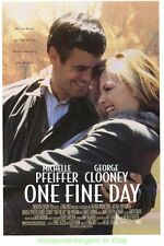 ONE FINE DAY MOVIE POSTER ORIGINAL SS 27x40 GEORGE CLOONEY MICHELLE PFEIFFER