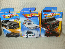 Hot Wheels TV Movie Lot Ghostbusters Ecto 1, Knight Rider KITT, A Team Van 80's