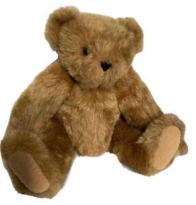 "Vermont Teddy Bear Handmade 15"" Plush Stuffed Animal Jointed Brown Tan Classic"