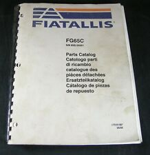 Fiatallis FG65C Motor Grader Parts Manual Book List Catalog Fiat Allis