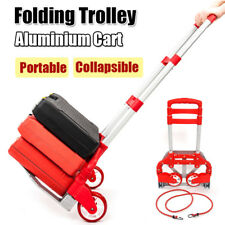 Portable Cart Folding Hand Truck Dolly Push Collapsible Trolley Luggage Package