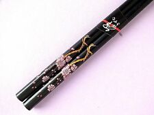 CHINESE BLACK PINK CHERRY BLOSSOM FLOWER CHOPSTICKS HAIR STICK JAPANESE PARTY