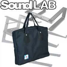Soundlab Black Canvas Table Top Laptop Stand Bag - Double Zip with Carry Handles