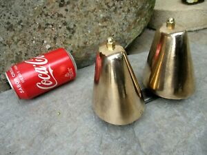 Vintage Huge Double Nice Brass Bell For Electric Ring Beautiful Two Campane