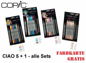 COPIC ciao Set 5+1 - Layoutmarker - ALLE Sets + Farbkarte GRATIS