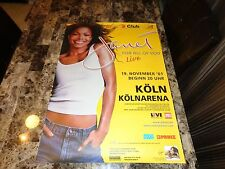 Janet Jackson Rare Koln Germany Show Concert Gig Poster 2001 All For You Tour !