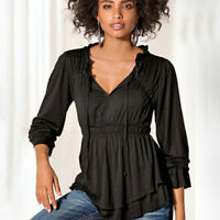Plus Size Women's Ladies Loose Tops Long Sleeve Tee Shirt Casual Lace Up Blouse