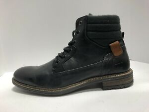 BullBoxer Trake Mens Boots Black Leather Size 9 M