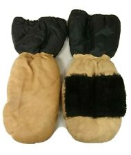 Ski snowmobile motorcycle shoveling mittens sherpa lined cuff men's large size