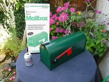 Green Galvanized Steel US Mail Box - Ex-Display with Original Packaging