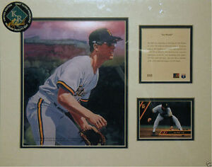 """1994 litho print of Jay Bell of the MLB Pittsburg Pirates, approx. 11"""" x 14"""""""