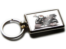 VESPA GT Moped Scooter Koolart Chrome Keyring Picture Both Sides