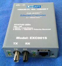 LANart EXC0015 Link Alert Ethernet Converter with AutoCross fiber Transceiver