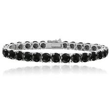 Black Swarovski Elements Tennis Bracelet