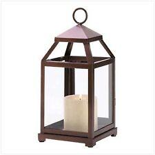 "10 Bronze Tone Lantern Candleholder Wedding Centerpieces 12"" Tall"