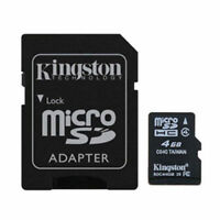 Kingston 4GB MicroSD SDHC TF Memory Card Class 4 with SD Adapter for GPS