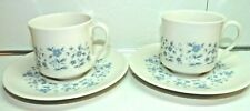 Royal Doulton Galaxy Pattern #Tc1038 Pair of Cups and Saucers