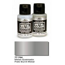 Vallejo Paints And Accessories  Metal Color VLJ-77704 Pale Burnt Metal Color